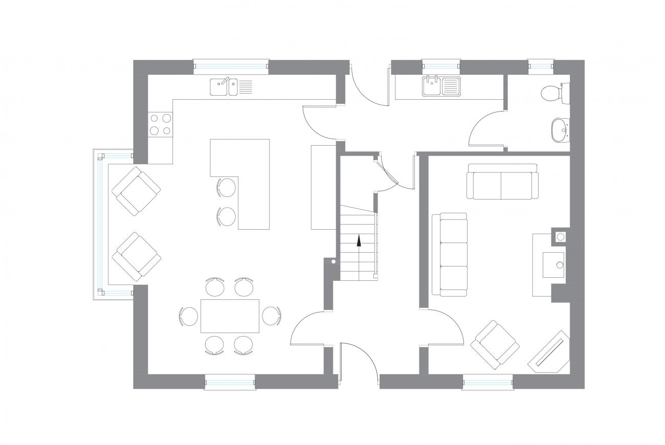 The Necarne - Ground Floor Plan