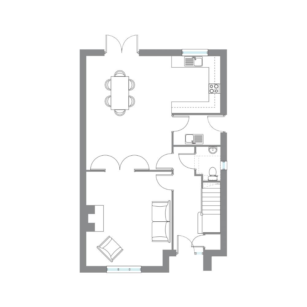 Type E - Ground Floor
